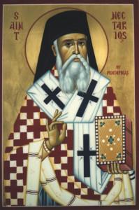 Icon of St. Nektarios -- Russian Orthodox Church Knoxville area
