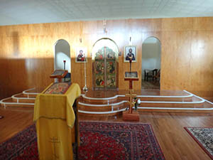 Picture of the newly constructed St. Nektarios Russian Orthodox Church in Lenoir City in the Knoxville, TN area