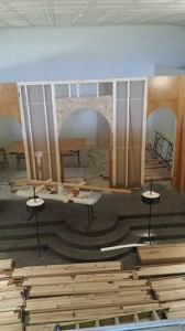 Picture of Construction at St. Nektarios Russian Orthodox Church in Lenoir City in the Knoxville, TN area