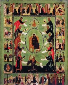 Icon of the Akathist to the Theotokos